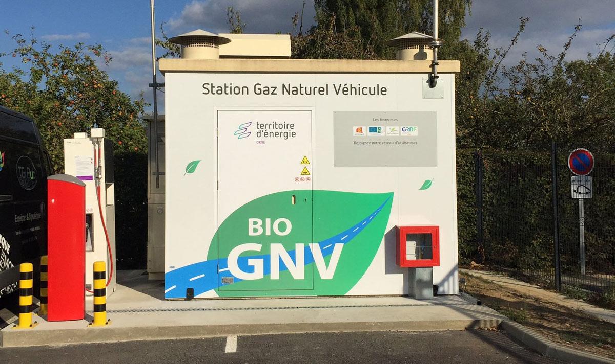 TE61 inaugure la première station GNV du département de l'Orne