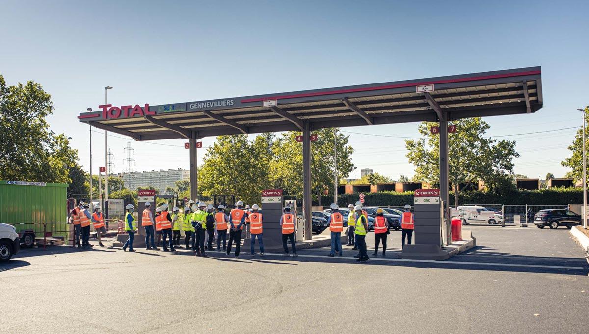 Total et le SIGEIF ouvrent une nouvelle station GNV à Gennevilliers