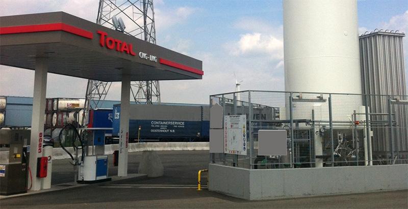 Total ouvre sa premi�re station GNV � GNL en Belgique