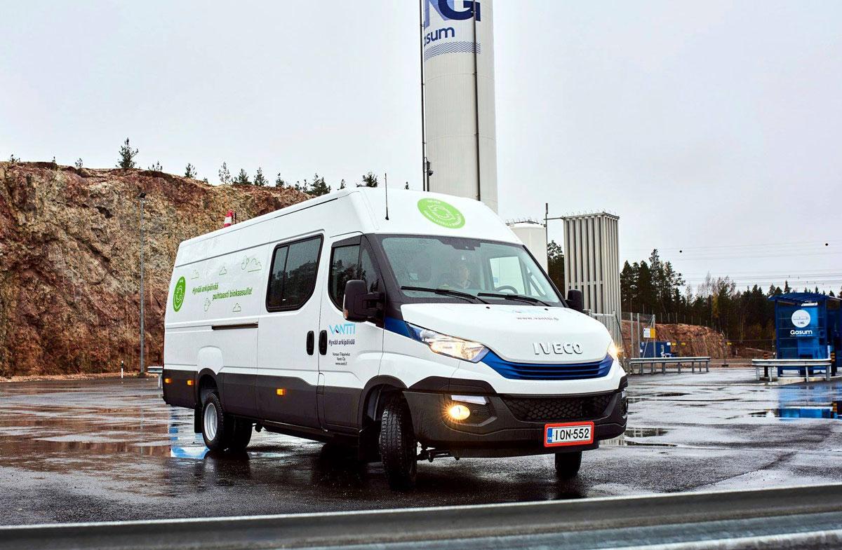 Finlande : des fourgons Iveco au bioGNV pour la ville de Vaasa
