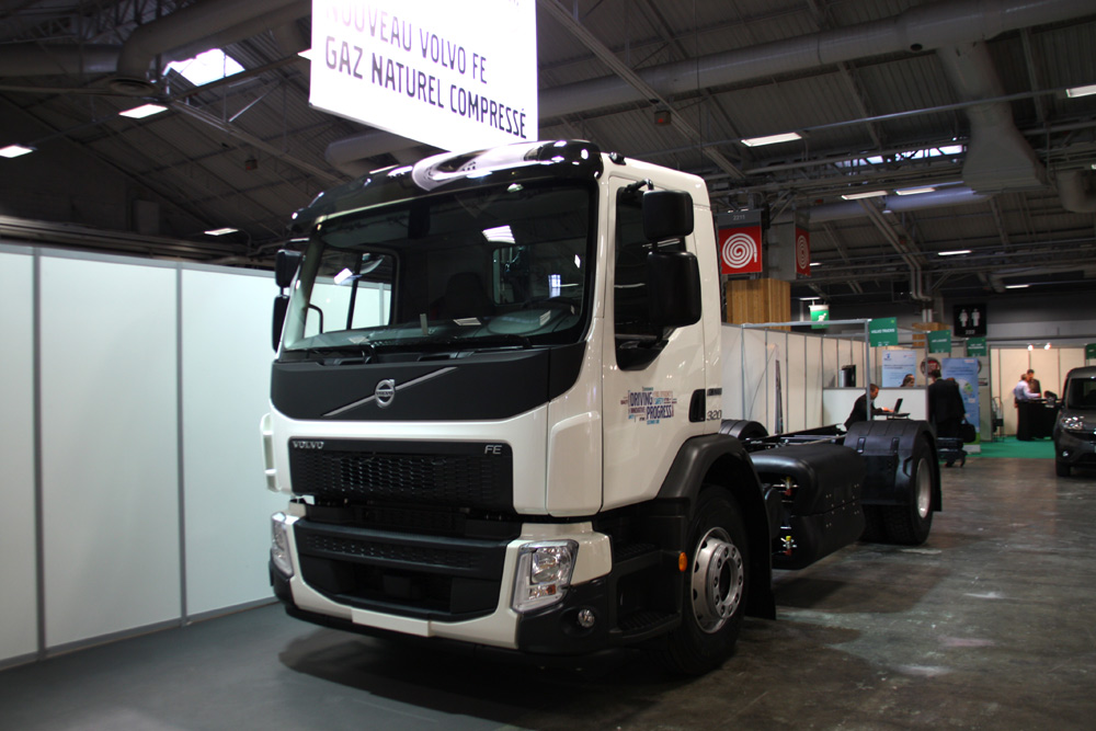 FE GNV – Le camion au gaz naturel de Volvo à Expo Biogaz